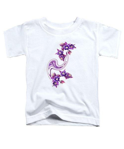 Flowing Purple Velvet 2 Toddler T-Shirt