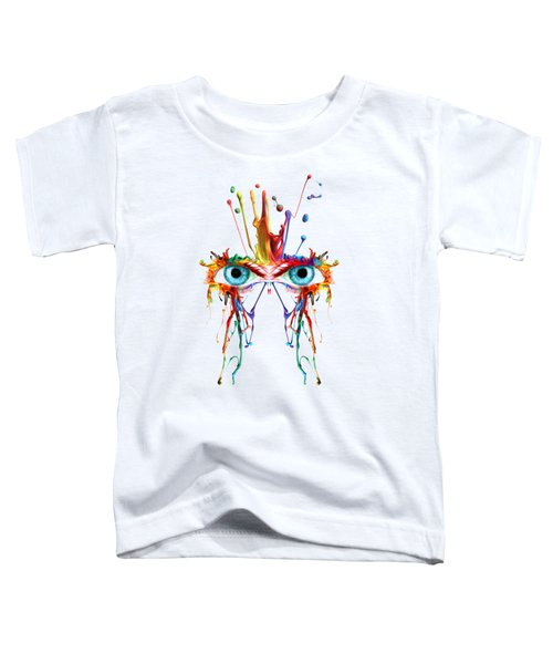 Fluid Abstract Eyes Toddler T-Shirt