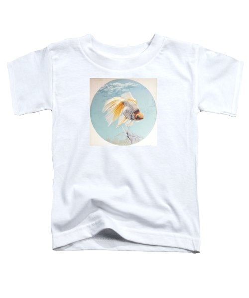 Flying In The Clouds Of Goldfish Toddler T-Shirt by Chen Baoyi