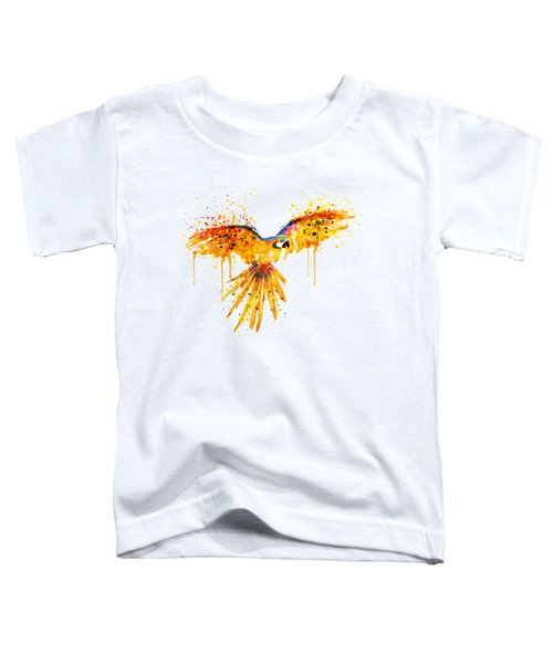Flying Parrot Watercolor Toddler T-Shirt by Marian Voicu
