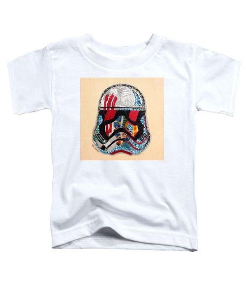 Storm Trooper Fn-2187 Helmet Star Wars Awakens Afrofuturist Collection Toddler T-Shirt