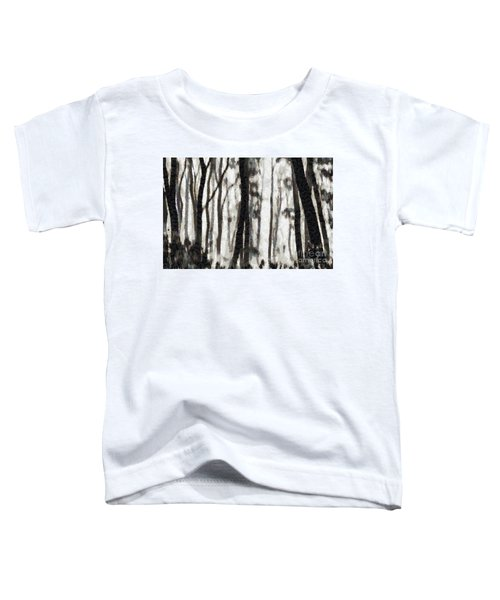 Foggy Forest Tree Paint Toddler T-Shirt