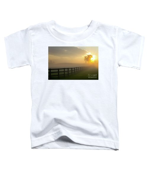 Foggy Pasture Sunrise Toddler T-Shirt
