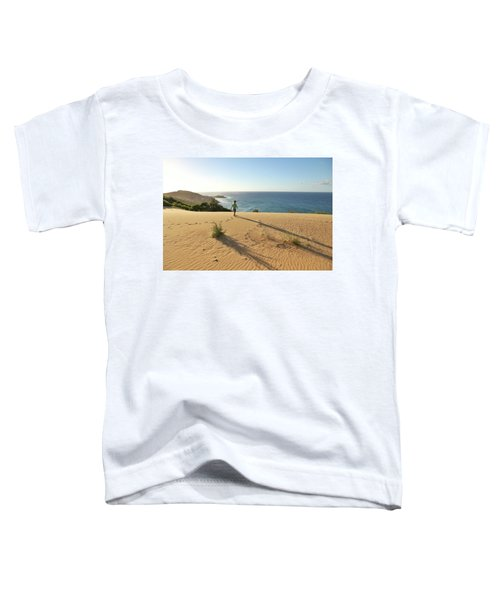 Footprints In The Sand Dunes Toddler T-Shirt