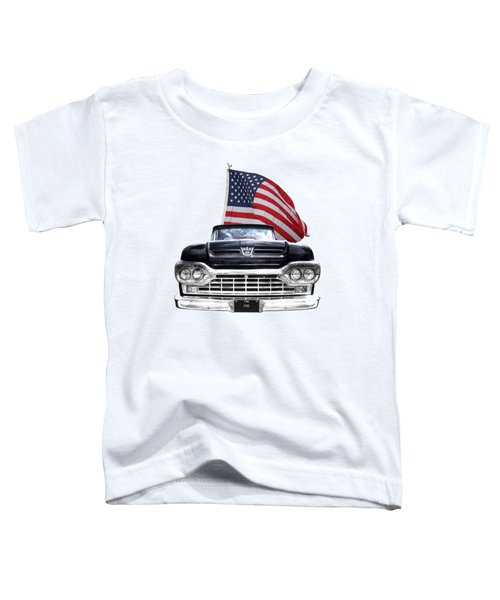 Ford F100 With U.s.flag On Black Toddler T-Shirt