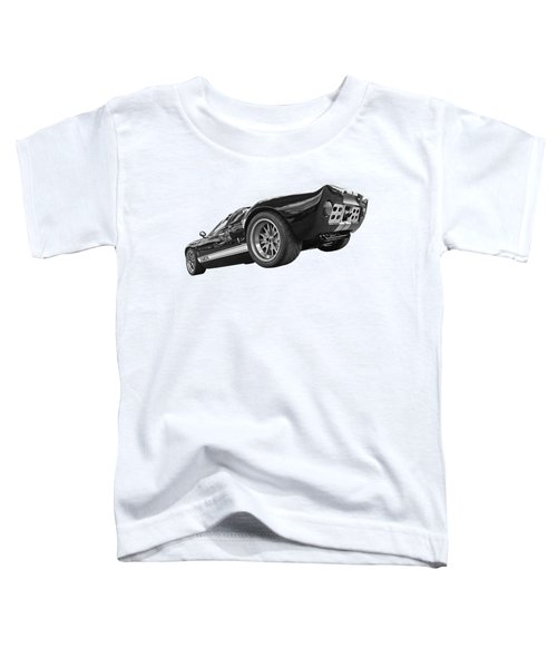Ford Gt 40 In Black And White Toddler T-Shirt
