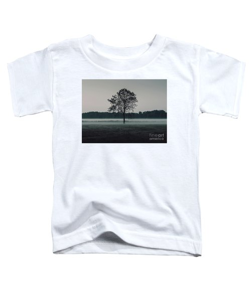 Toddler T-Shirt featuring the photograph Forest Fog by MGL Meiklejohn Graphics Licensing