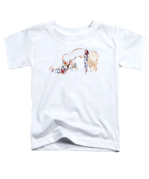 Forever Amber - Tattoed Nude Toddler T-Shirt by Carolyn Weltman