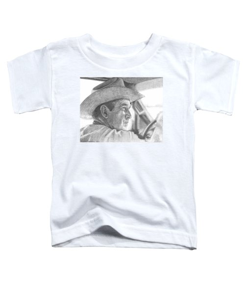 Former Pres. George W. Bush Wearing A Cowboy Hat Toddler T-Shirt by Michelle Flanagan