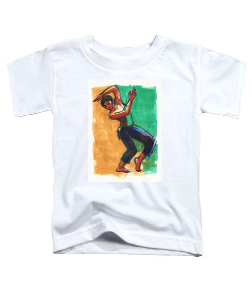 Toddler T-Shirt featuring the painting Four Colors Movement by Judith Kunzle