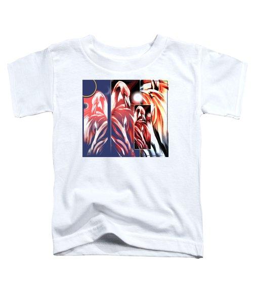 Four Flamingos Toddler T-Shirt