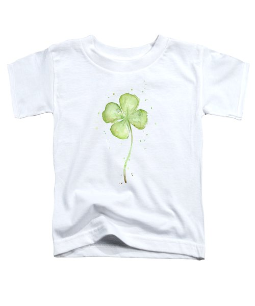 Four Leaf Clover Lucky Charm Toddler T-Shirt by Olga Shvartsur