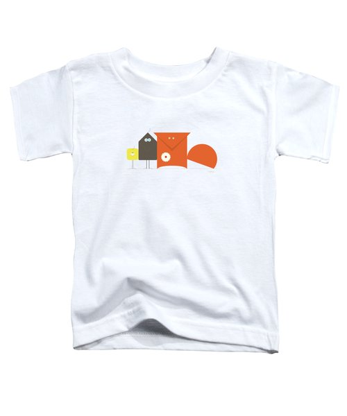 Fox Crow And Chick Toddler T-Shirt