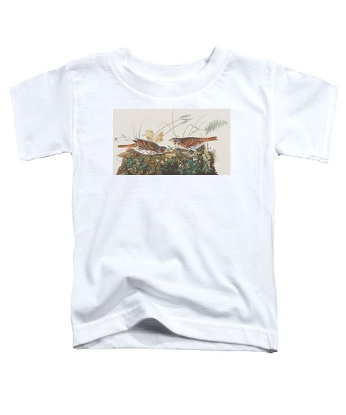 Fox Sparrow Toddler T-Shirt by John James Audubon