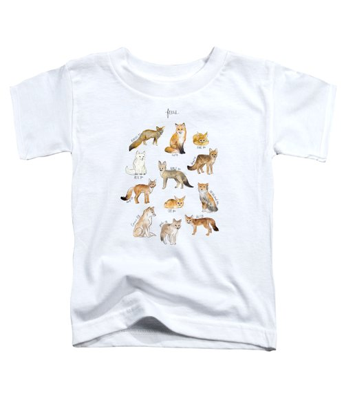 Foxes Toddler T-Shirt by Amy Hamilton