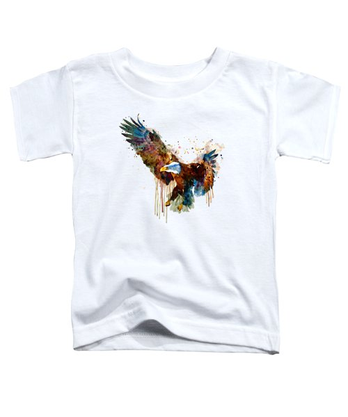 Free And Deadly Eagle Toddler T-Shirt by Marian Voicu