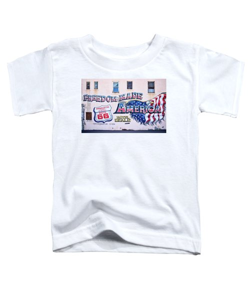 Freedom Made America - Mural Art On Route 66 Toddler T-Shirt