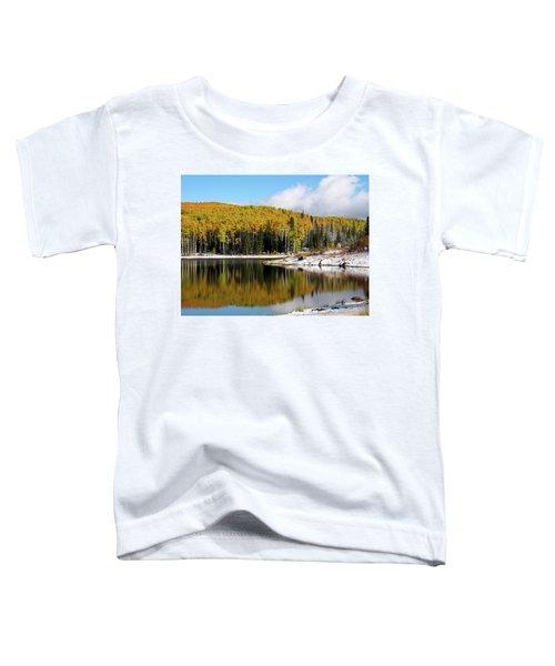 Freeman Lake In Northwest Colorado In The Fall Toddler T-Shirt