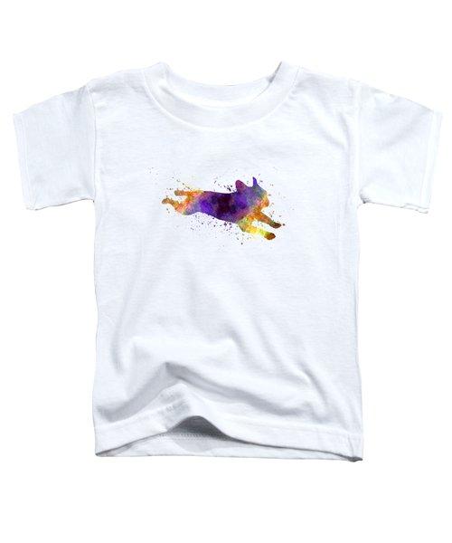 French Bulldog 03 In Watercolor Toddler T-Shirt