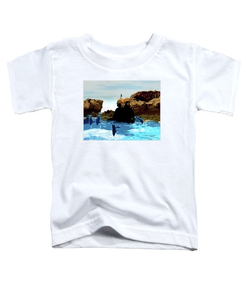 Friends With Dolphins In Colour Toddler T-Shirt