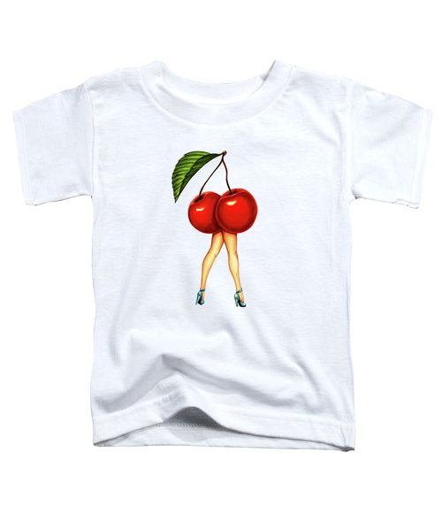 Fruit Stand- Cherry Toddler T-Shirt by Kelly Gilleran