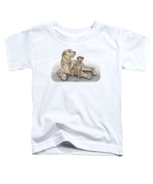 Full Of Promise - Irish Wolfhound Dog Print Color Tinted Toddler T-Shirt