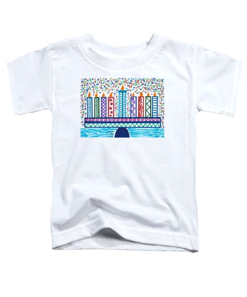Funky Menorah  Toddler T-Shirt