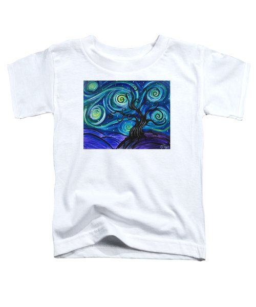 Funky Tree, Starry Night Toddler T-Shirt