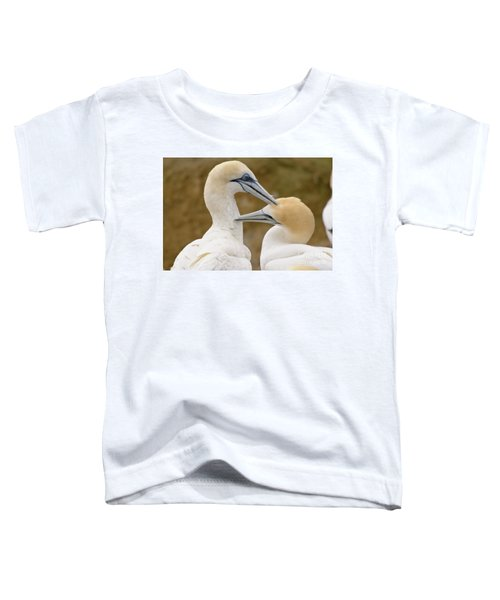 Toddler T-Shirt featuring the photograph Gannet Pair 1 by Werner Padarin