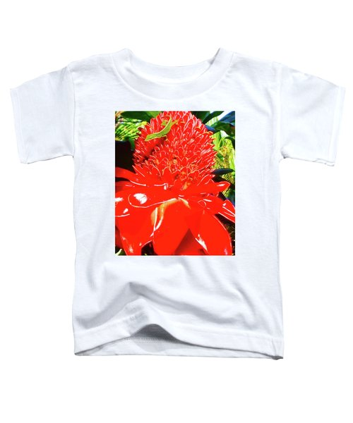 Gecko On Torch Ginger Toddler T-Shirt