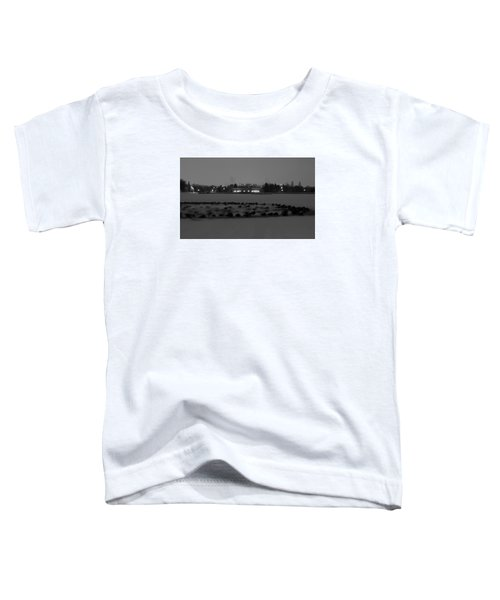 Geese In Frozen Lake Toddler T-Shirt