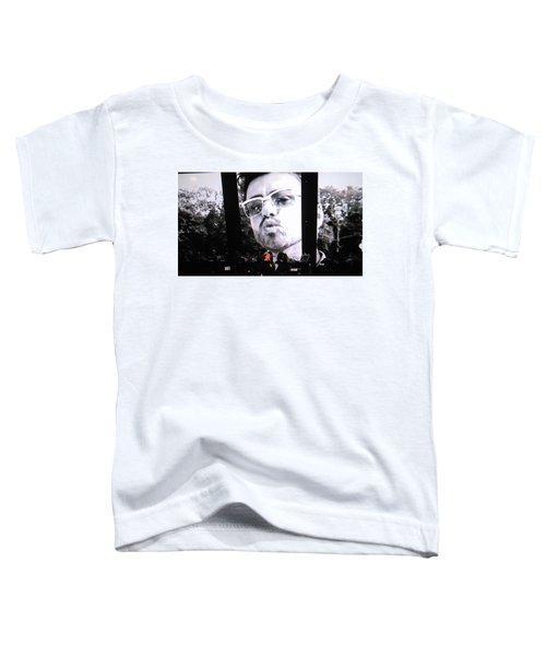 George Michael Sends A Kiss Toddler T-Shirt by Toni Hopper
