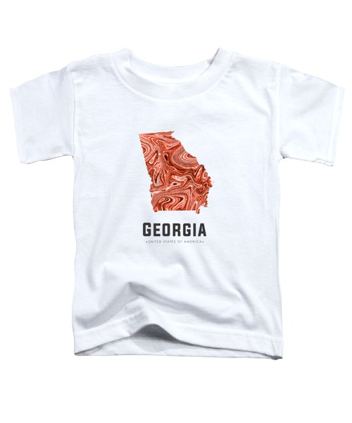 Georgia Map Art Abstract In Brown Toddler T-Shirt