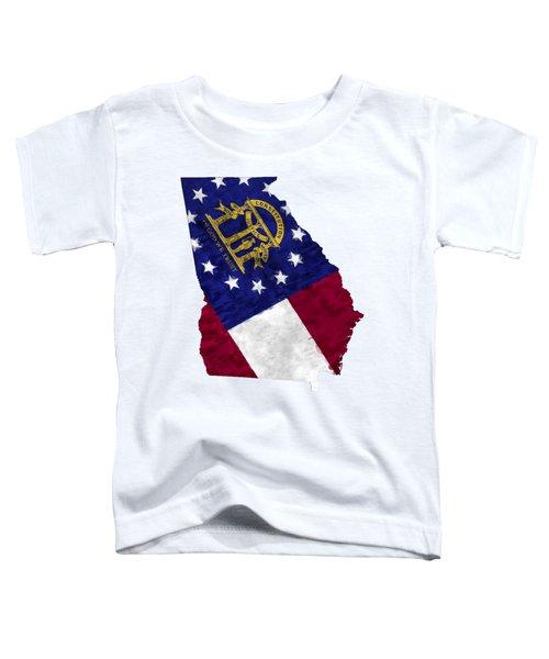 Georgia Map Art With Flag Design Toddler T-Shirt