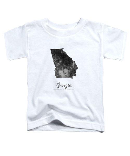 Georgia State Map Art - Grunge Silhouette Toddler T-Shirt
