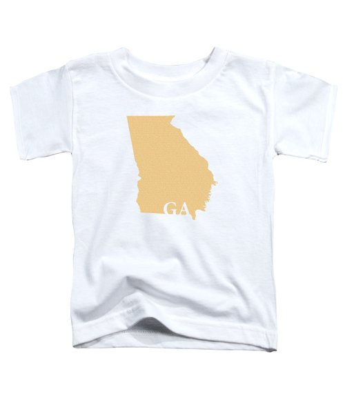 Georgia State Map With Text Of Constitution Toddler T-Shirt