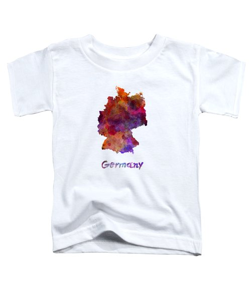 Germany In Watercolor Toddler T-Shirt by Pablo Romero