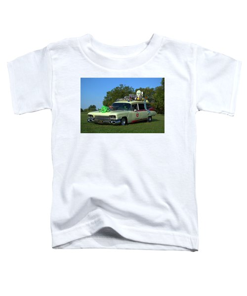 1959 Cadillac Ghostbusters Ambulance Replica Toddler T-Shirt