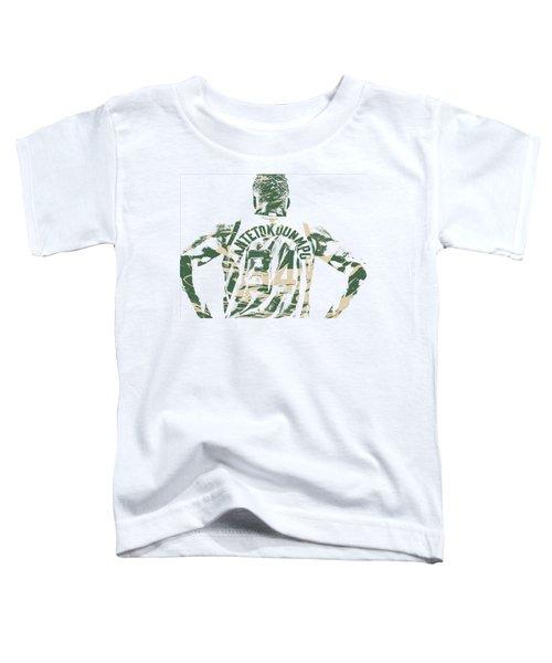 Giannis Antetokounmpo Milwaukee Bucks Pixel Art 22 Toddler T-Shirt