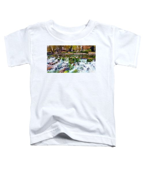 Toddler T-Shirt featuring the digital art Giant Springs 1 by Susan Kinney