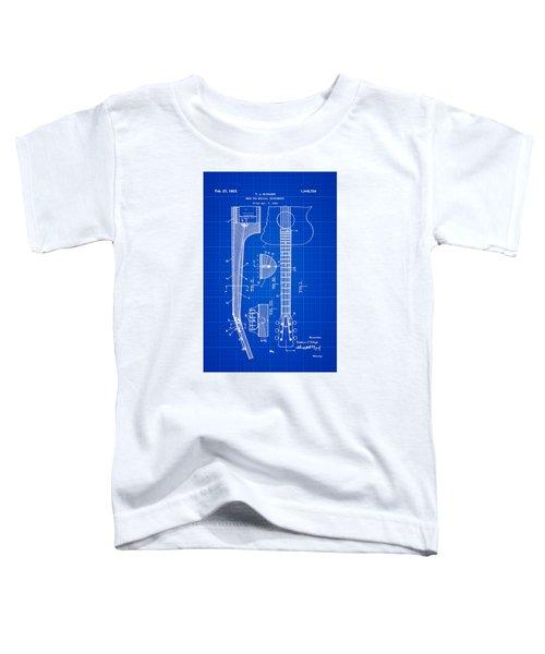 Gibson Guitar Patent 1923 Blue Print Toddler T-Shirt