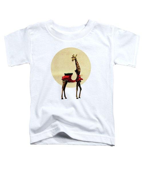 Giraffe Toddler T-Shirt by Ali Gulec