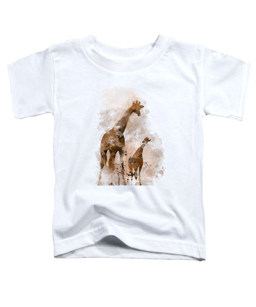 Giraffe And Baby Toddler T-Shirt