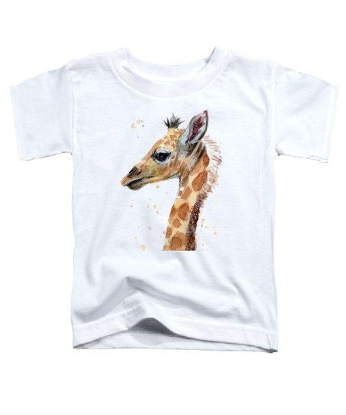 Giraffe Baby Watercolor Toddler T-Shirt