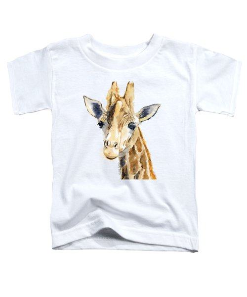 Giraffe Watercolor Toddler T-Shirt by Melly Terpening