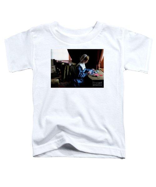 Girl Sewing Toddler T-Shirt