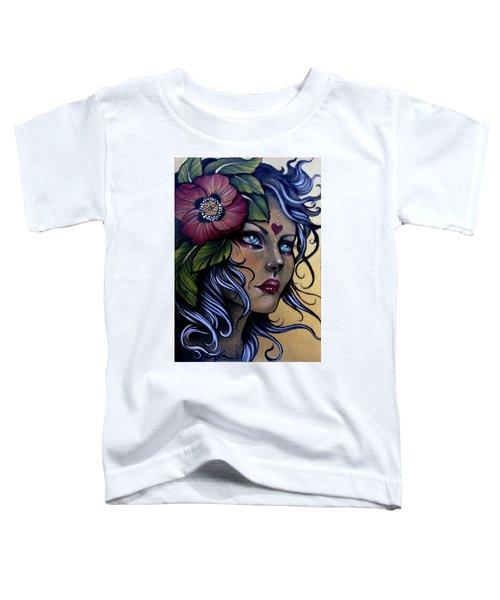 Girl With Poppy Flower Toddler T-Shirt