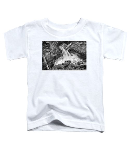 Glacier National Park's Avalanche Gorge In Black And White Toddler T-Shirt