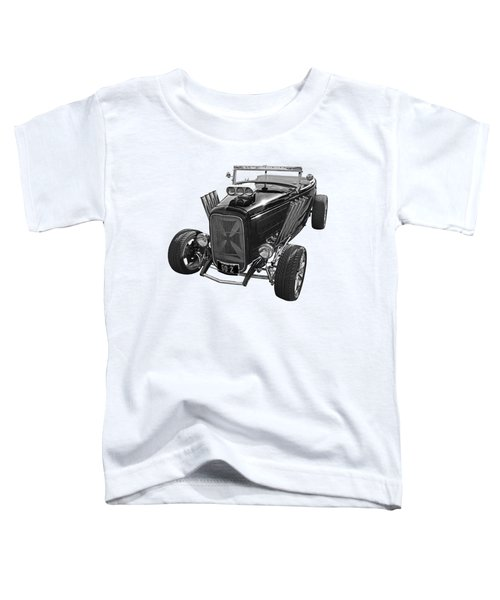 Go Hot Rod In Black And White Toddler T-Shirt