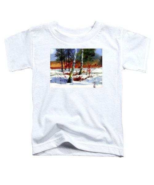 Gold Bushes Watercolor Toddler T-Shirt